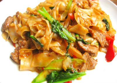 Pad Key Mao Drunken Noodles Pongsri Thai