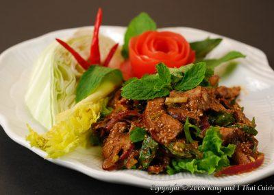 Spicy BBQ Beef Salad